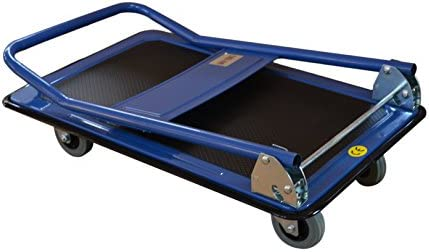 Carretilla de plataforma asa plegable 150 kg de capacidad de carga alfombrilla antideslizante AnxPxAl: 78 x 50 x 90 cm T-EQUIP PFW-150 carro manual y plegable