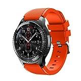For Samsung Gear S3 Frontier New Fashion Sports Silicone Bracelet Strap Band,Outsta Watch Band Wrist Strap Watch Accessories Bracelet Best Gift 22mm (Orange)