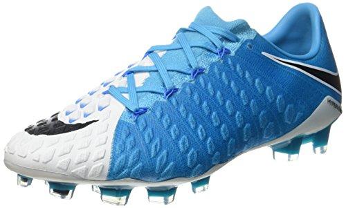 Nike Herren 852567-104 | Hypervenom Phantom III FG Fußballschuhe Weiß (White/Blue)