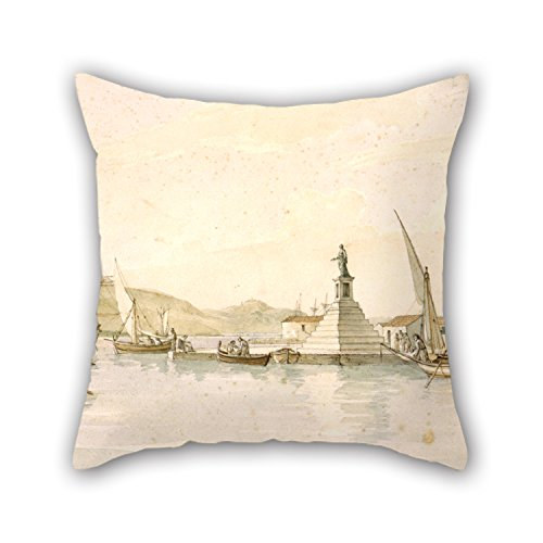 Pillow Shams Of Oil Painting Cartwright Joseph - View Of Argostoli On The Island Of Cephalonia,for Bedding,wife,family,couples,play Room,car Seat 20 X 20 Inches / 50 By 50 Cm(each (Plus Bubbles Powerpuff Costume)