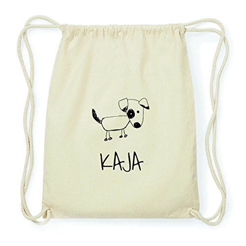 JOllipets KAJA Hipster Turnbeutel Tasche Rucksack aus Baumwolle Design: Hund 7WQOep