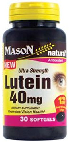 Mason Natural Lutein 40mg Ultra Strength 30 ea (Pack of 4) by Mason Natural