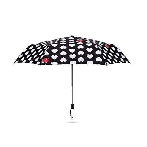 (Umbrella Love Rain and Rain Folding Light Sun Protection Sun Protection Sunshade ZJING)
