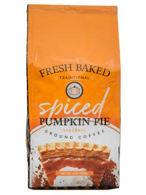 Gourmet Flavored Ground Coffee, Spiced Pumpkin Pie 12 OZ Bag, Limited Edition Holiday Flavors