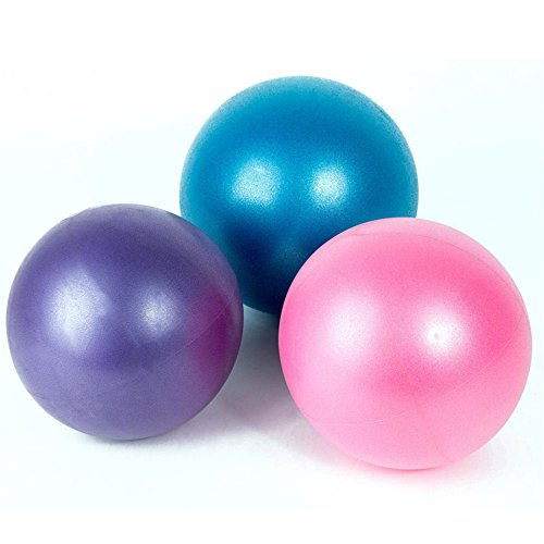 - 3Pcs Mini Exercise Balls - Professional Grade Anti Burst Heavy Duty and Slip Resistant Small Pilates Ball for Yoga Fitness Stability Barre Balance Training Physical Therapy, 9-10 Inch (about 25cm)