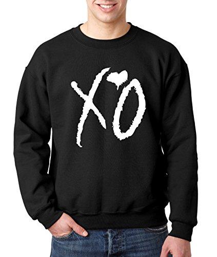 New Way 763 - Crewneck XO The Weeknd Heart Weekend Whiteout Unisex Pullover Sweatshirt Small Black
