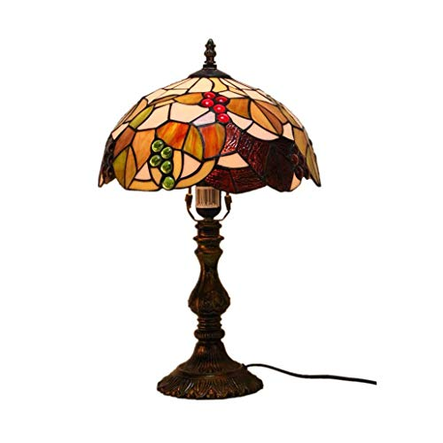 Tiffany Style Desk Lamp/Reading Light, Stained Glass Table Light, Parlour Bedchamber Bedside Light Creative Bar Hotel Learning Reading Lamp, E27, BOSS LV