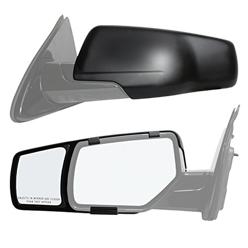 On Towing Clip Mirrors - Fit System 80920 Snap and Zap Towing Mirror Pair (2015 and Up Gm SUV)