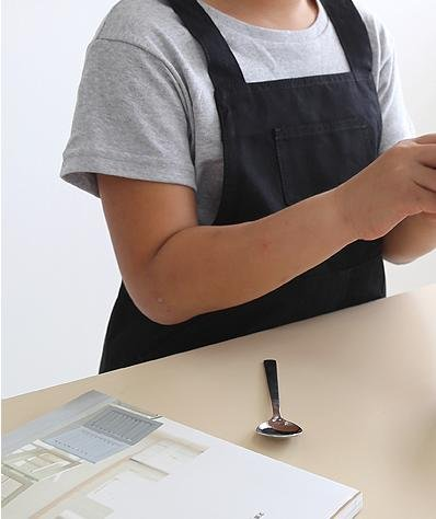 Handmade Child Kid Apron Japanese Style H Shape Cotton Apron-3 Color (Black) by cozymomdeco