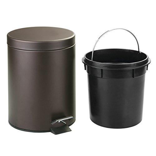 5 Liter Round Small Steel Step Trash Can Wastebasket