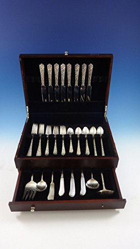 Radiant Rose by International Sterling Silver Flatware 8 Service Set 53 Pieces