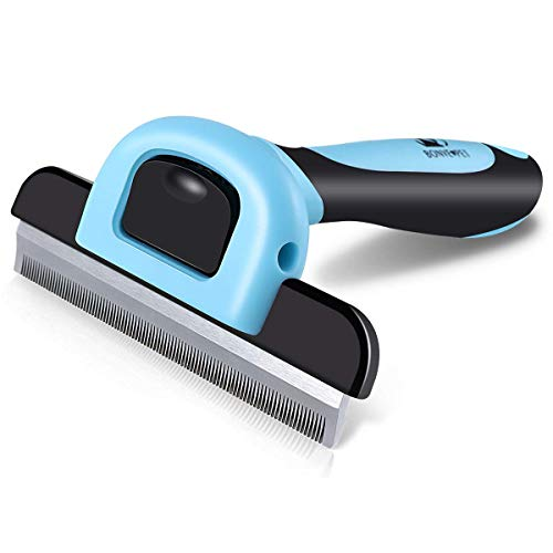 Pet Grooming Brush Effectively Reduces Shedding by up to 95% Professional Deshedding Tool for Dogs and Cats from Bonve Pet