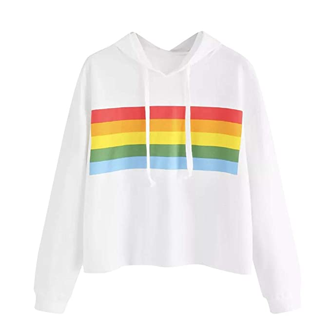 Amazon.com: Women Sweatshirts Clearance, Toimoth Women Casual Colorful Striped Panel Hoodie Sweatshirt Tops Blouse: Clothing