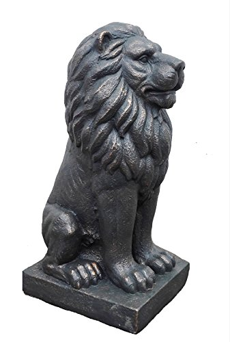 "TIAAN 28"" Lion King Concrete Statues Garden Statue Decor Lion Sculptures Outdoor Indoor Ornament Home Patio Large Figurines by TIAAN (Image #1)"