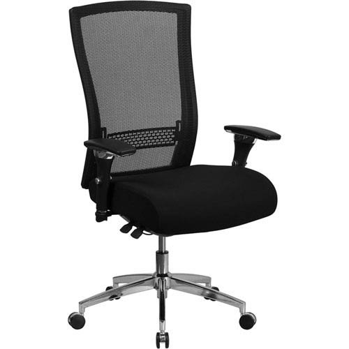 Parkside Series 24/7 Multi-Shift, 300 lb. Capacity High Back Black Mesh Multi-Functional Executive Swivel Chair with Seat Slider ()