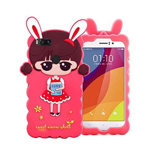 GODRIC Rubber Back Cover for Mi A1  Pink