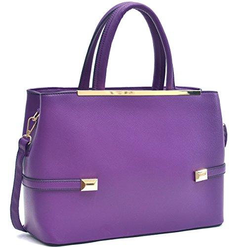 Women's Fashion Top Handle Handbags Hinged Tote Satchel Purse Work Shoulder Bag ()