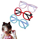 serbon Children Stylish Cute Glasses Frame Without Lenses Pack of 3