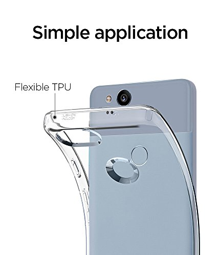 Large Product Image of Spigen Liquid Crystal Pixel T Case with Slim Protection and Premium Clarity for Pixel T (2017) - Crystal Clear