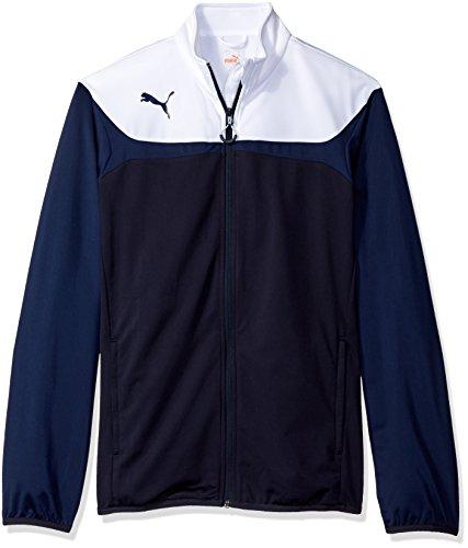 (Puma Men's Esito 3 Tricot Jacket, Medium, New Navy-White)