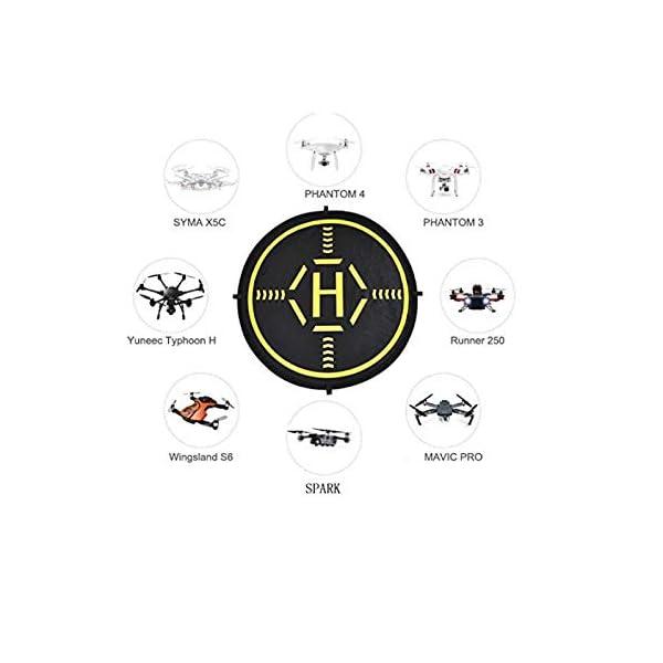 Indoostrial Landing Pad Drone, Il Tappetino Drone definitivo per l'atterraggio. Il Drone Landing Pad è Compatibile Drone DJI, Drone Mavic Mini e tuti droni. Semplice la Migliore Accessori Drone 7 spesavip