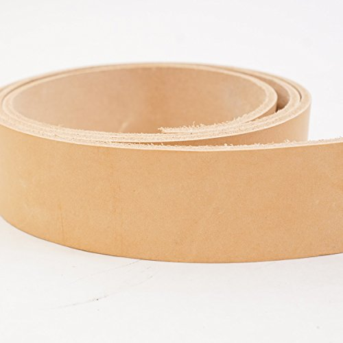 #2 Vegetable Tan Import Cowhide Leather Strip 8/9 oz - Kits Leather Belt