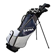 Wilson Golf Ultra Men's 9-Club, Left-Handed Set w/ Bag and Covers, Deepwater