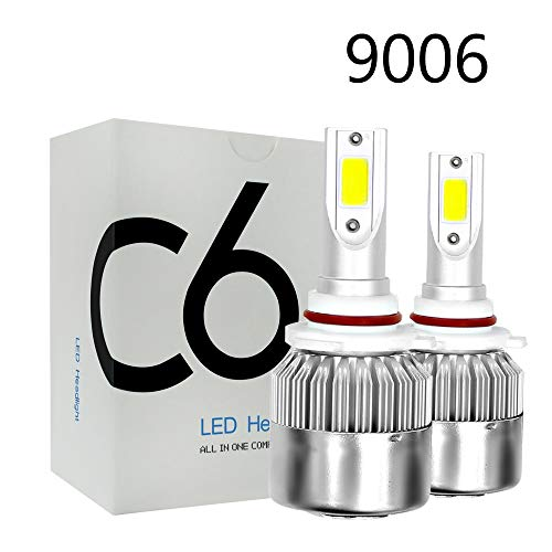 Areyourshop Car Auto HB4 9006 LED Headlight Lamp Light 6000K 72W 7600LM White Plug Play C6 from Areyourshop