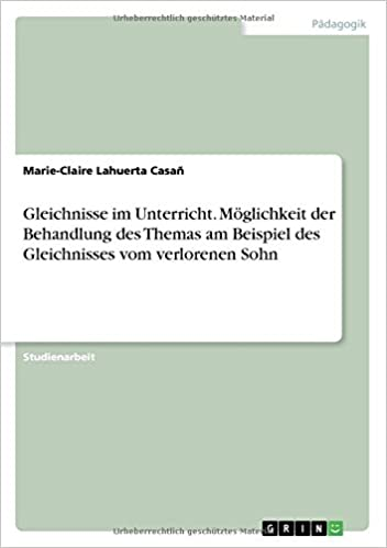 Amazon.com: Gleichnisse Im Unterricht. Möglichkeit Der Behandlung ...