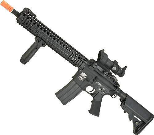 "Evike G&P V5 Airsoft M4 AEG with 12.5"" RIS Handguard - Black (Package: Add Battery + Charger)"