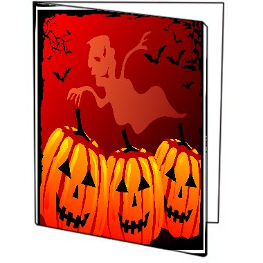 (Spooky Halloween Cartoon Printed Design THREE (3) PACK of Printed 9x12 Pocket Folders)