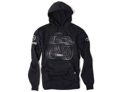 Factory Effex 16-88224 'YAMAHA' R1 Pullover Sweatshirt (Black, Large)