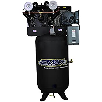 7.5 HP Air Compressor, 80-Gallon, Vertical, 4-Cylinder