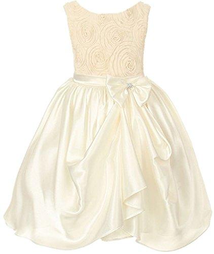 Unique Print Satin Dress - 8