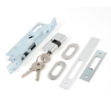 Puerta corrediza de metal gancho cerradura de seguridad 23mm 0,91 Backset w Teclas