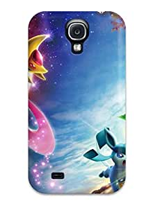 Rugged Skin Case Cover For Galaxy S4- Eco-friendly Packaging(pokemon)