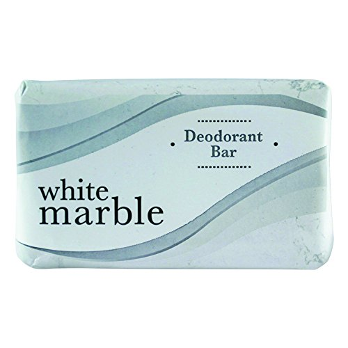 White Marble DIA 00197 DIA00197 Individually Wrapped Deodorant Bar Soap, 2.5 oz. Bar, White (Pack of - Ounce 2.5 Bar