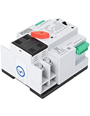 Dual Power Automatic Transfer Switch 2P 63A Circuit Breaker Electrical Selector Switches Home Rail Type Installation
