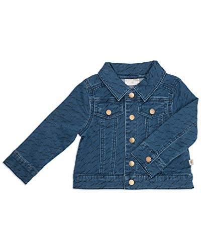 Rosie Pope Little Boys Printed Jacket, Denim, 18 Months