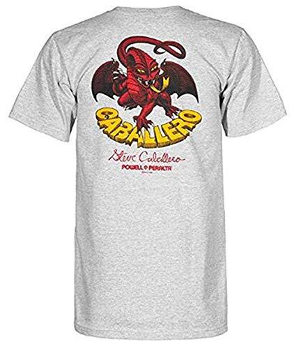 (Powell-Peralta Cab Classic Dragon for Men T-Shirt Gray Size XXXL)
