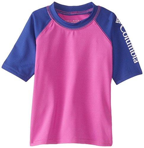 Columbia Little Girls' Toddler Mini Breaker II Short Sleeve Sunguard Top, Foxglove/Light Grape, 4T