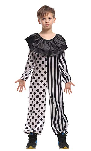stylesilove Kid Boys Halloween Costume Cosplay Outfit Themed Birthdays Party (Joker, M/4-6 Years) ()