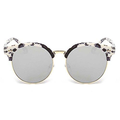 ZHOUKE Korean Fashion Trend Womens Big Frame Round - Sunglasses Trend Korean