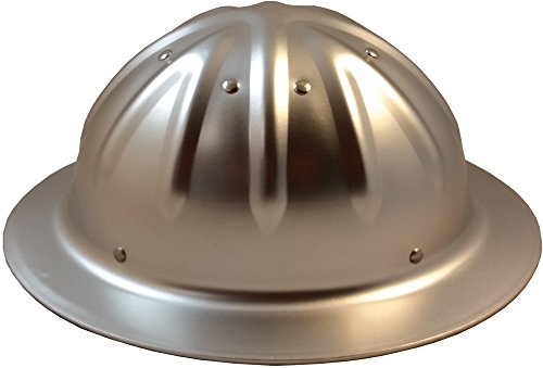 Original SkullBucket Aluminum Hard Hats, Full Brim with Ratchet Suspensions Silver by Skull Bucket (Image #3)