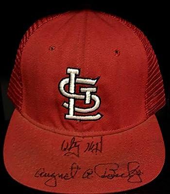 Rare August A. Busch Jr. & Jack Buck Memorabilia PSA/DNA Autographed Signed Hat St. Louis Cardinals Hof