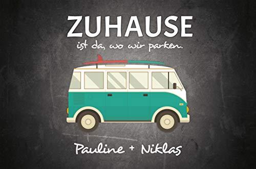 41hKfWLEMlL Werbetreff Gera Fußmatte mit Name Bus Camper Abenteuer (50 x 35 cm)