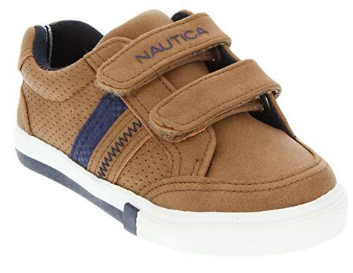 (Nautica Kids Hull Toddler Velcro Sneaker Fashion Shoe-Hull Toddler-Tan Pu-9)