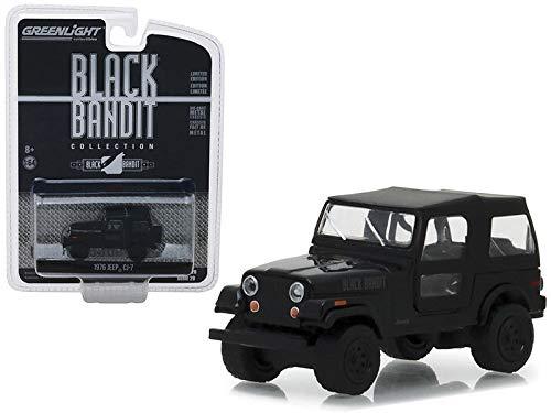 """1976 Jeep CJ-7""""Black Bandit Series 20 1/43 Diecast Model Car by Greenlight 27960 F"""