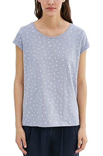edc by Esprit T-Shirt Femme Bleu (Light Blue Lavender)