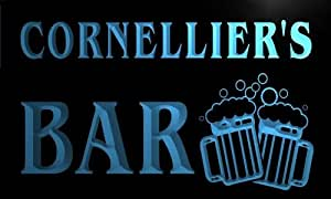 w064039-b CORNELLIER Name Home Bar Pub Beer Mugs Cheers Neon Light Sign